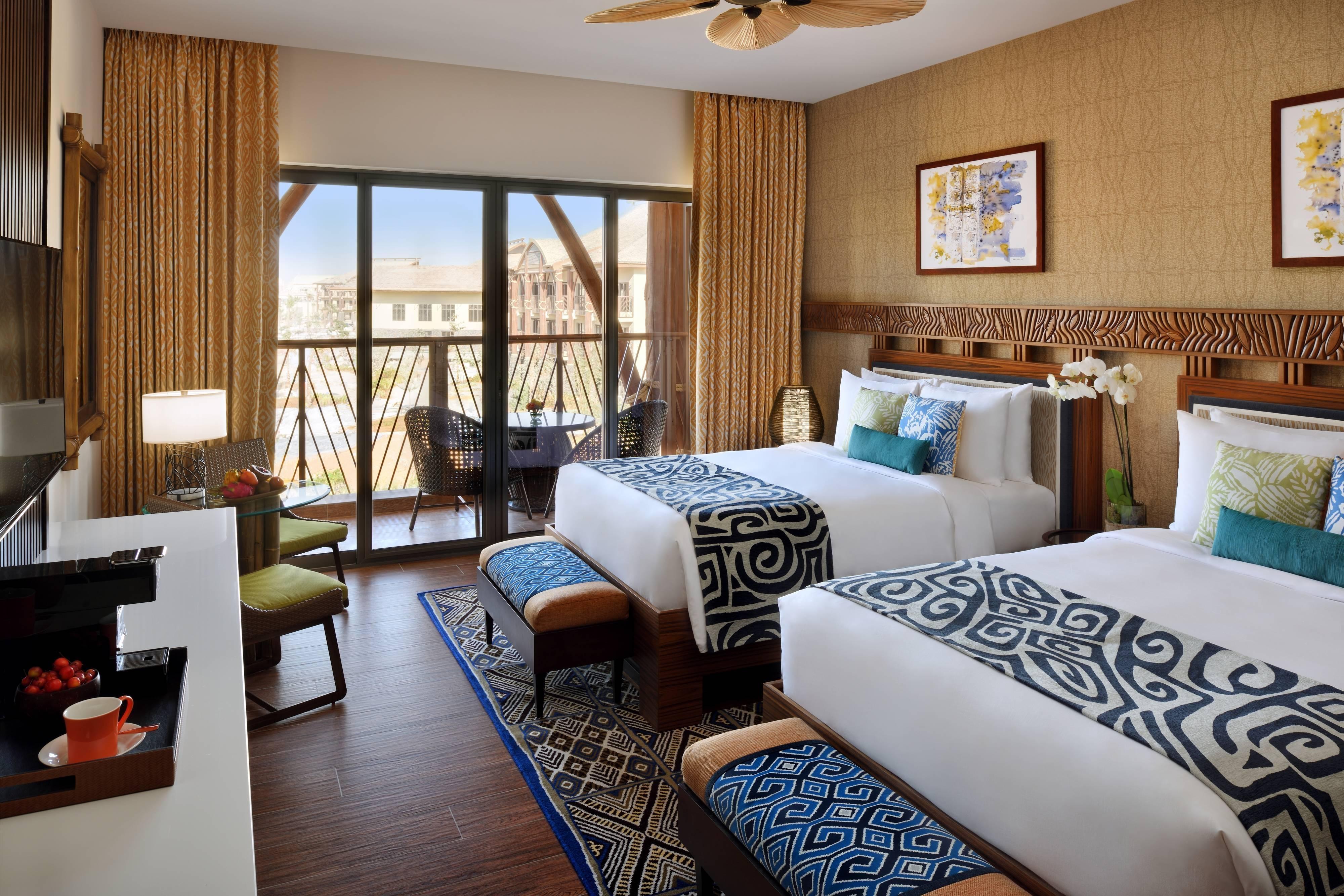 Habitación de lujo con dos camas individuales