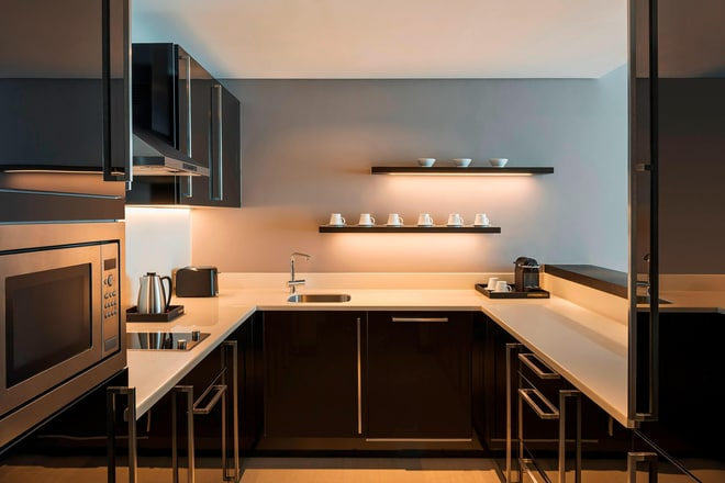 Kitchen in a One-Bedroom Apartment