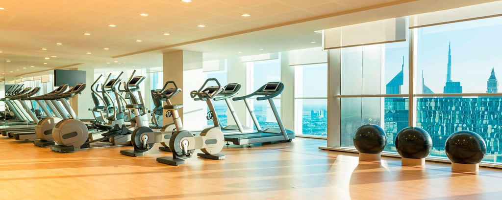 Mantenetevi in forma al fitness center mentre siete in viaggio e godetevi la vista incredibile su Sheikh Zayed Road