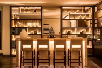 The private Bar Area in Executive Suite is perfect for entertaining guests