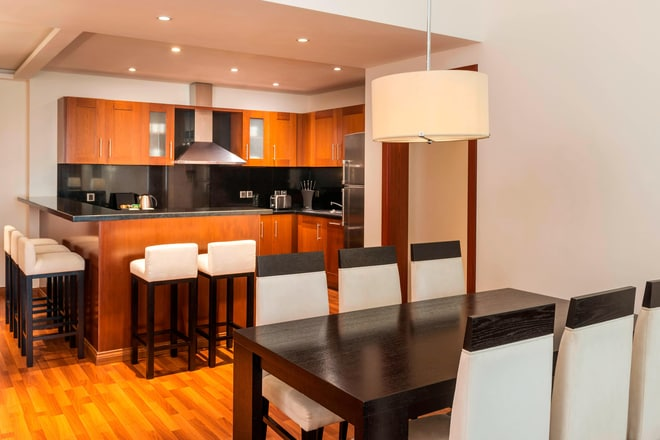 Three-Bedroom Residence Apartment Dining Kitchen