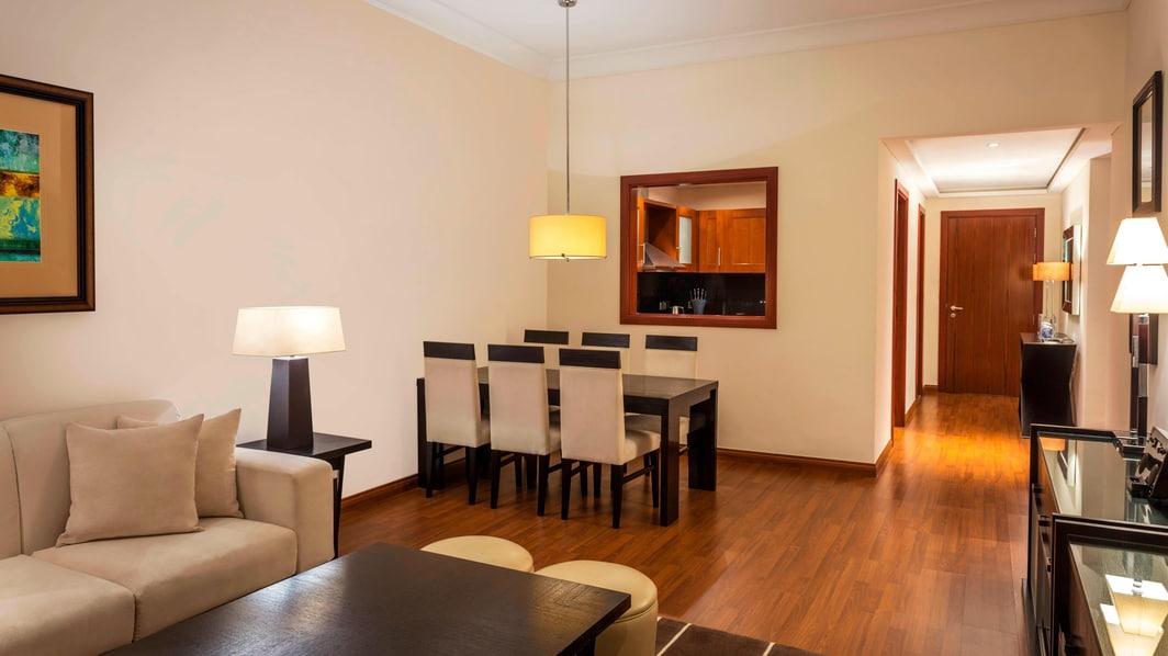 Apartamento Residence com dois quartos - sala de jantar