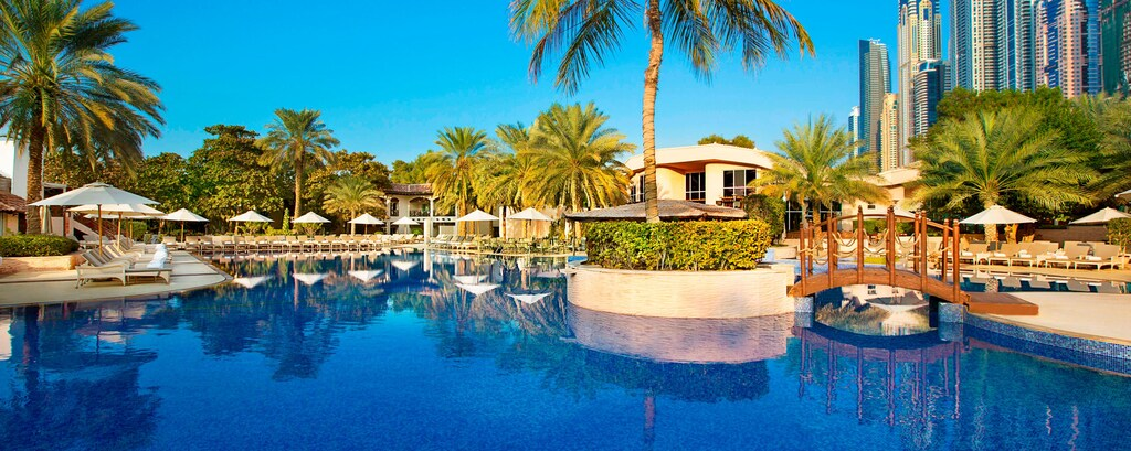 Jumeirah resort with outdoor pool