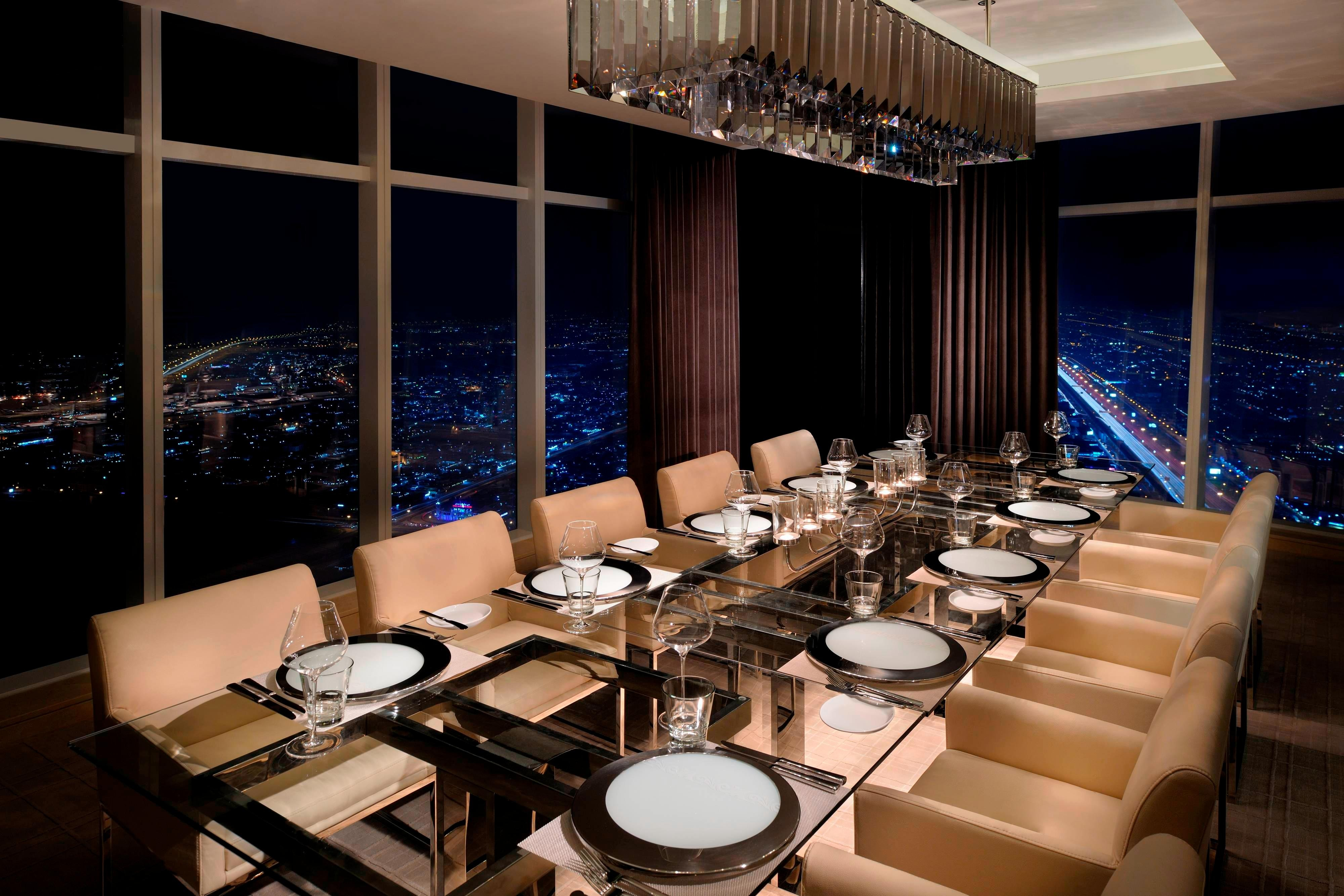 Private steakhouse dining Dubai