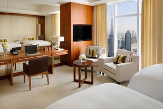 Dubai Luxury twin hotel room
