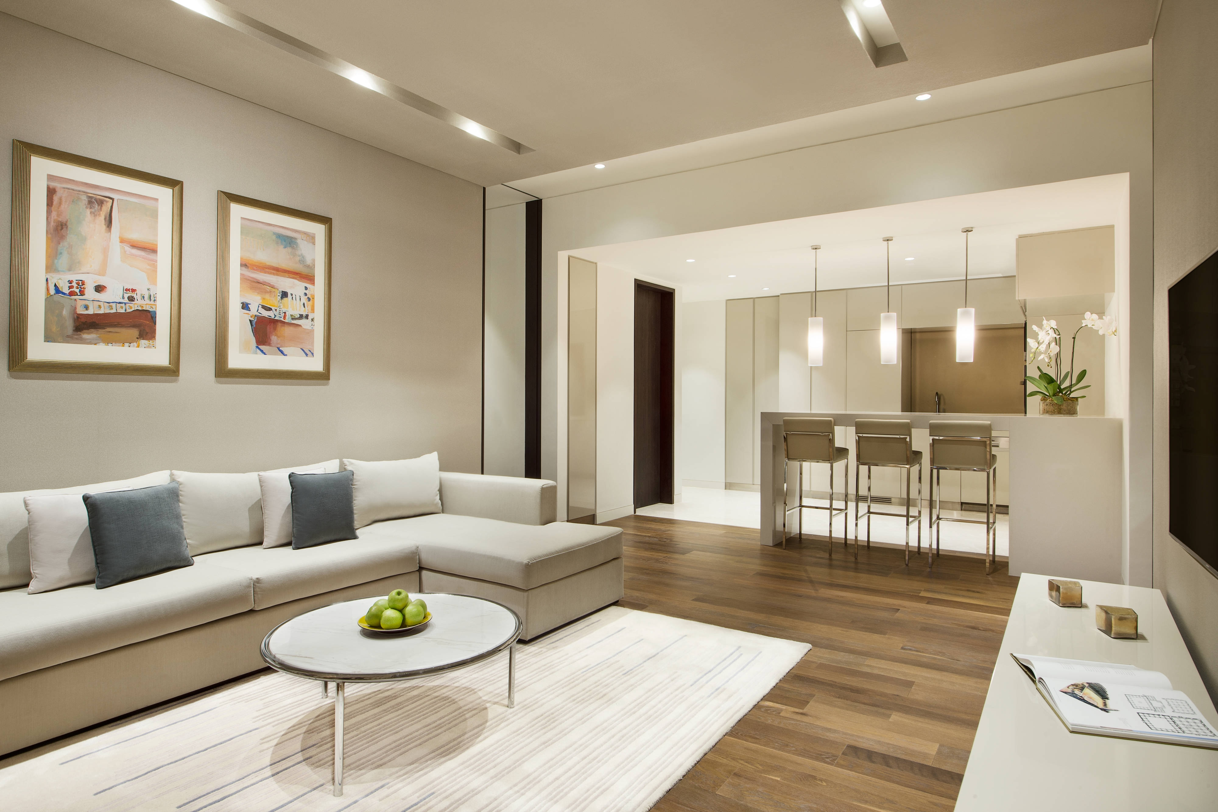Two-Bedroom Residence Living Area