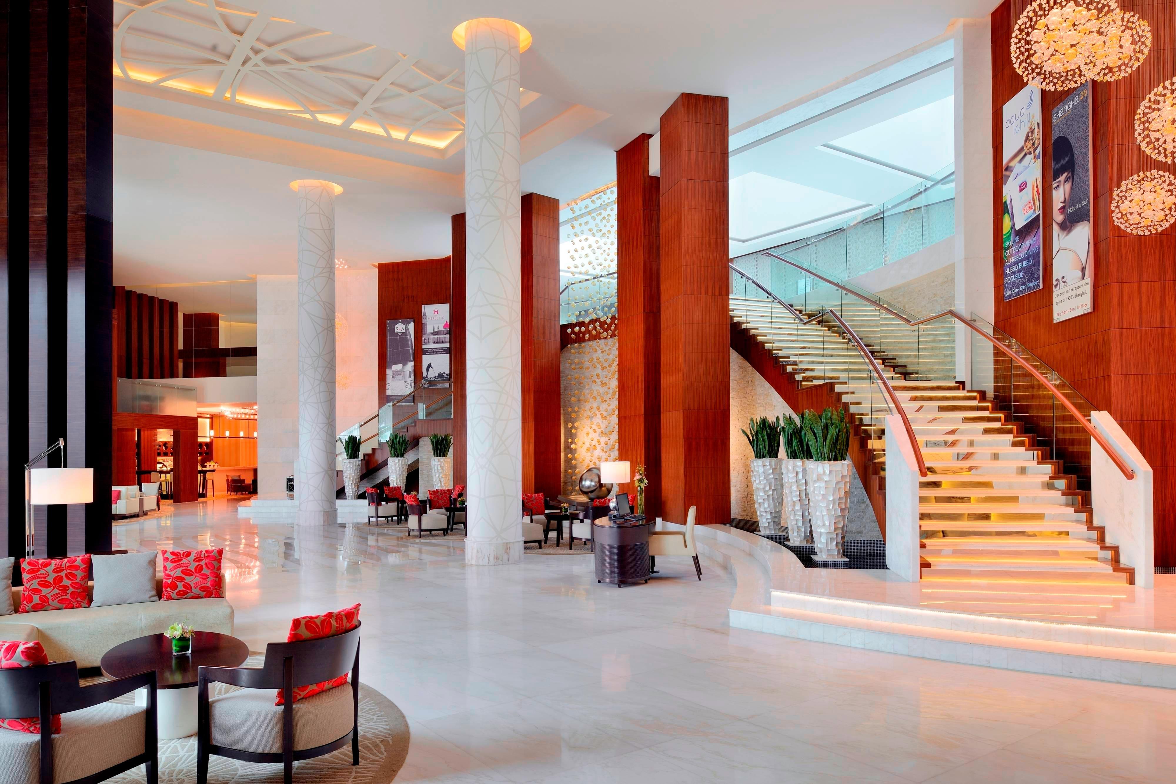 Al Jaddaf Dubai hotel lobby