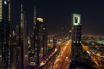Level 43, vue sur Sheikh Zayed Road