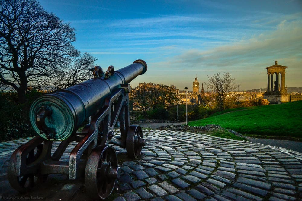 Calton Hill Cannon, Edinburgh