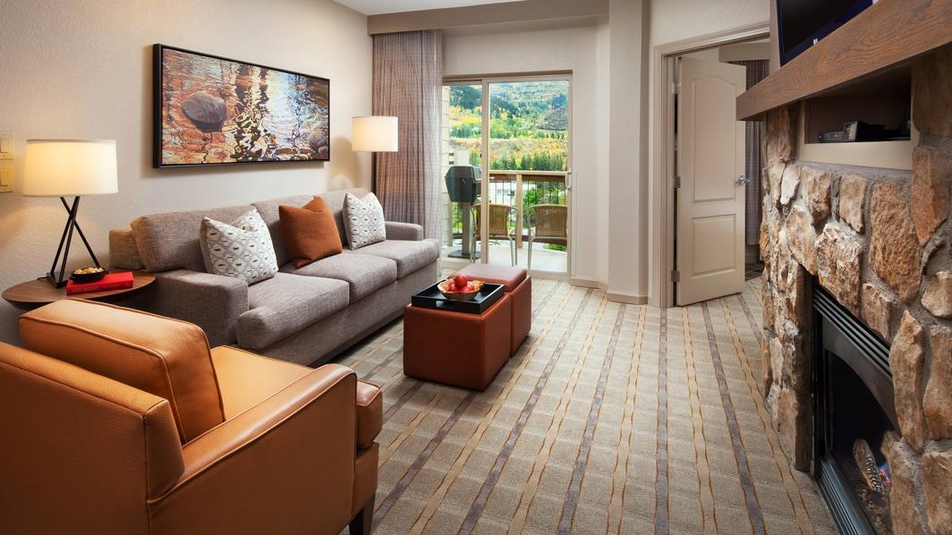 Sala de estar de la habitación Premium de un dormitorio