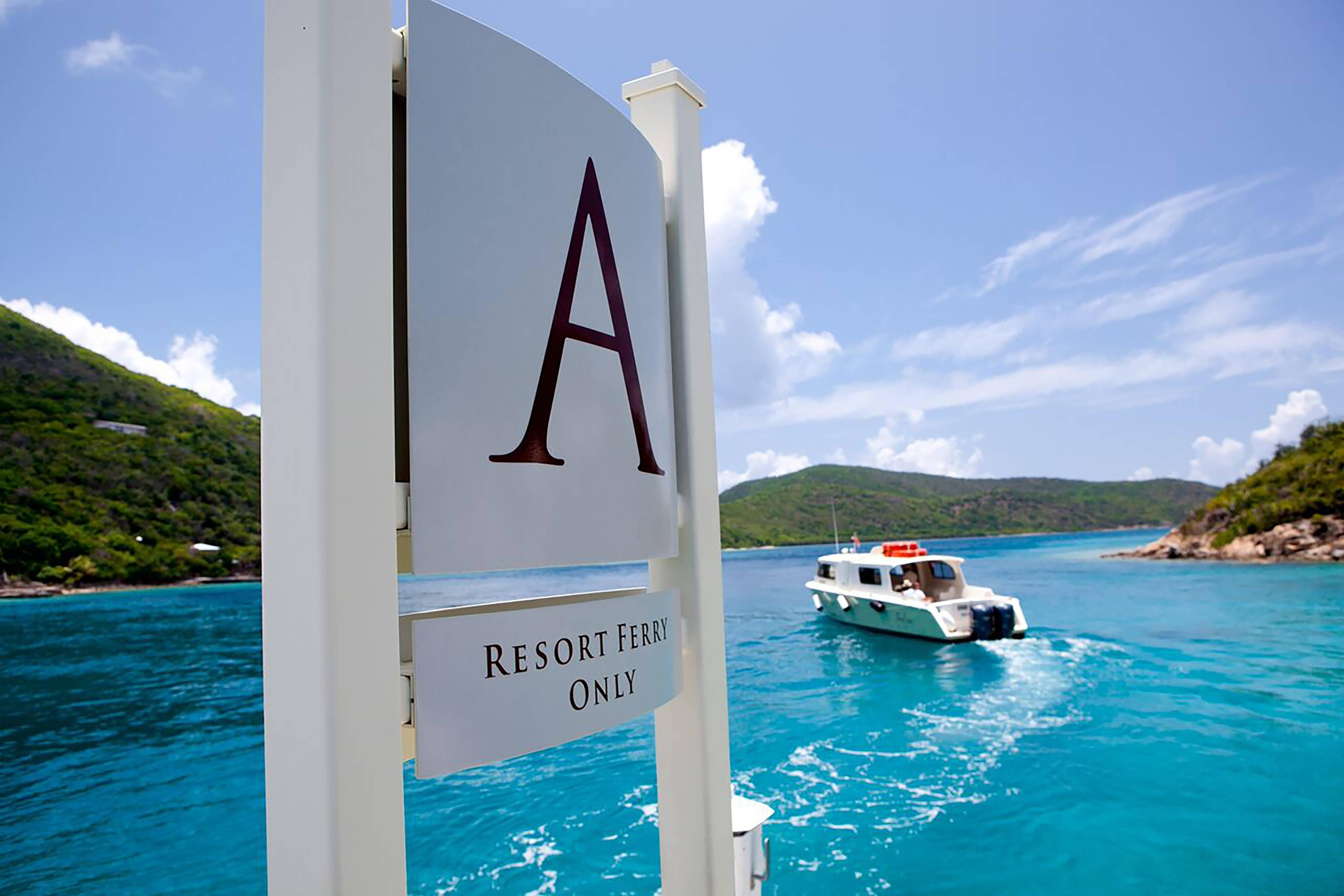 Ferry del resort en Scrub Island