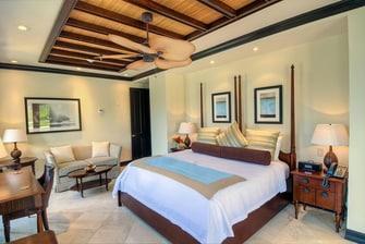 Dormitorio de la villa de lujo en las Islas Vírgenes