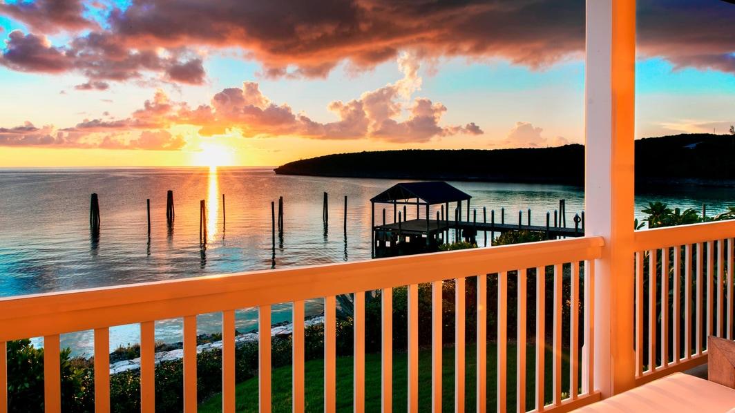 Премиальная вилла с 1 спальней с видом на океан– вид с балкона в Френч Лив Ризорт