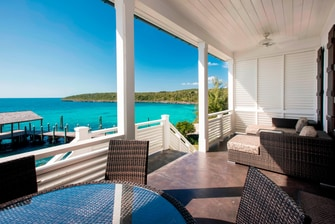 One-Bedroom Premium Oceanfront Villa - Balcony View at French Leave Resort