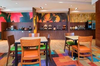 Fairfield Inn & Suites Fredericksburg Breakfast Area