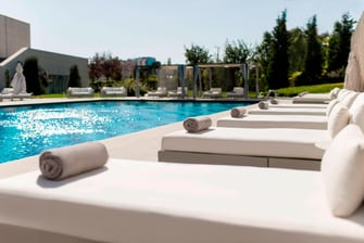 Outdoor pool at Ankara hotel