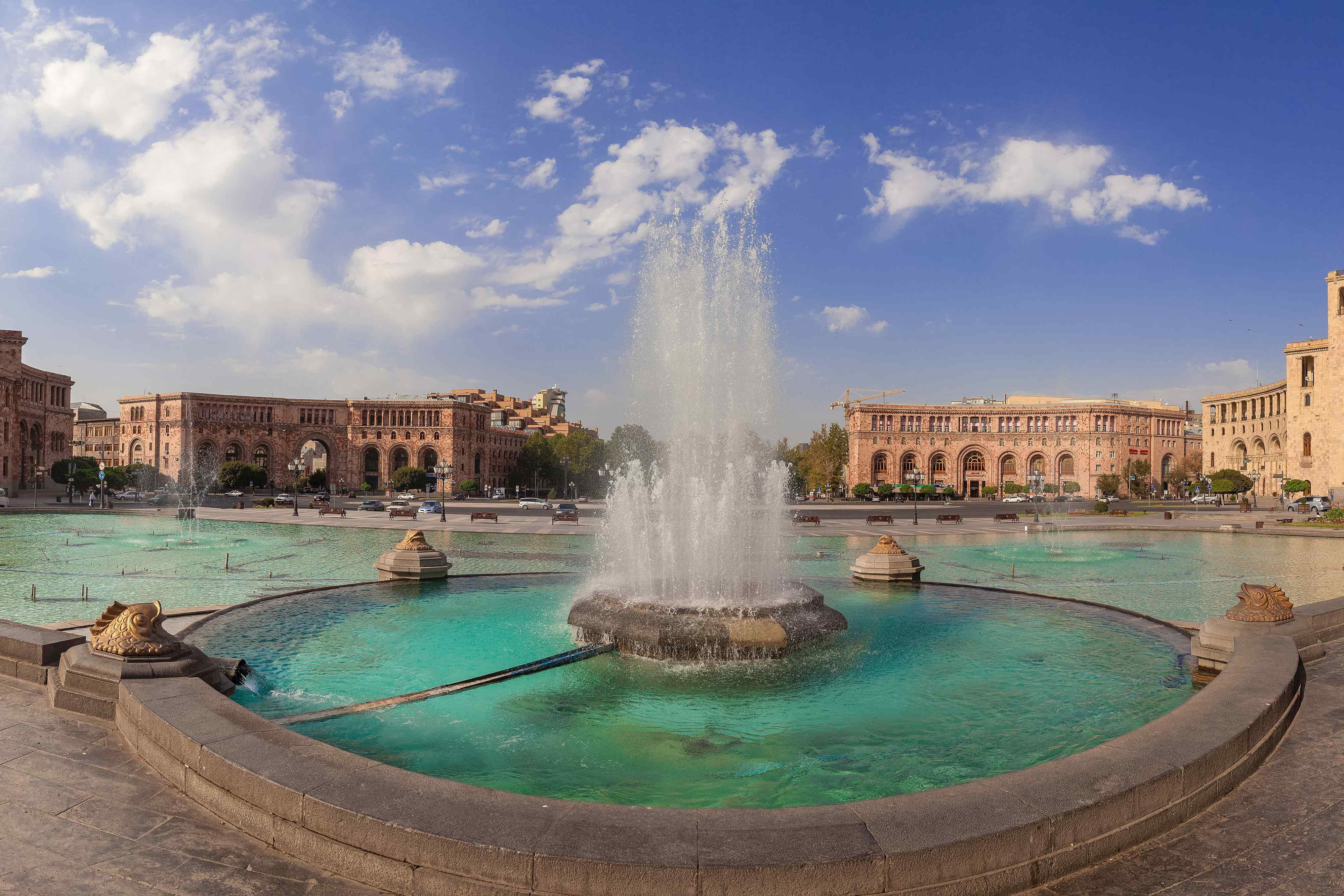Built in 1970's Cascade is a huge stairway linking Yerevan center to the Haghtanak Park and the Monument Neighborhood. Inside the Cascade there is an escalator equal to the length of the complex. This
