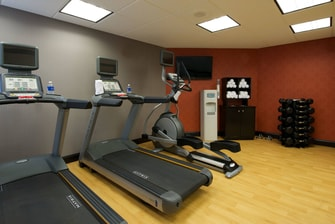 Evansville hotel with fitness center
