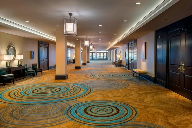 Newark hotel event space foyer