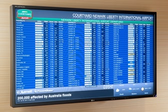 Newark Airport Hotel Flight Board