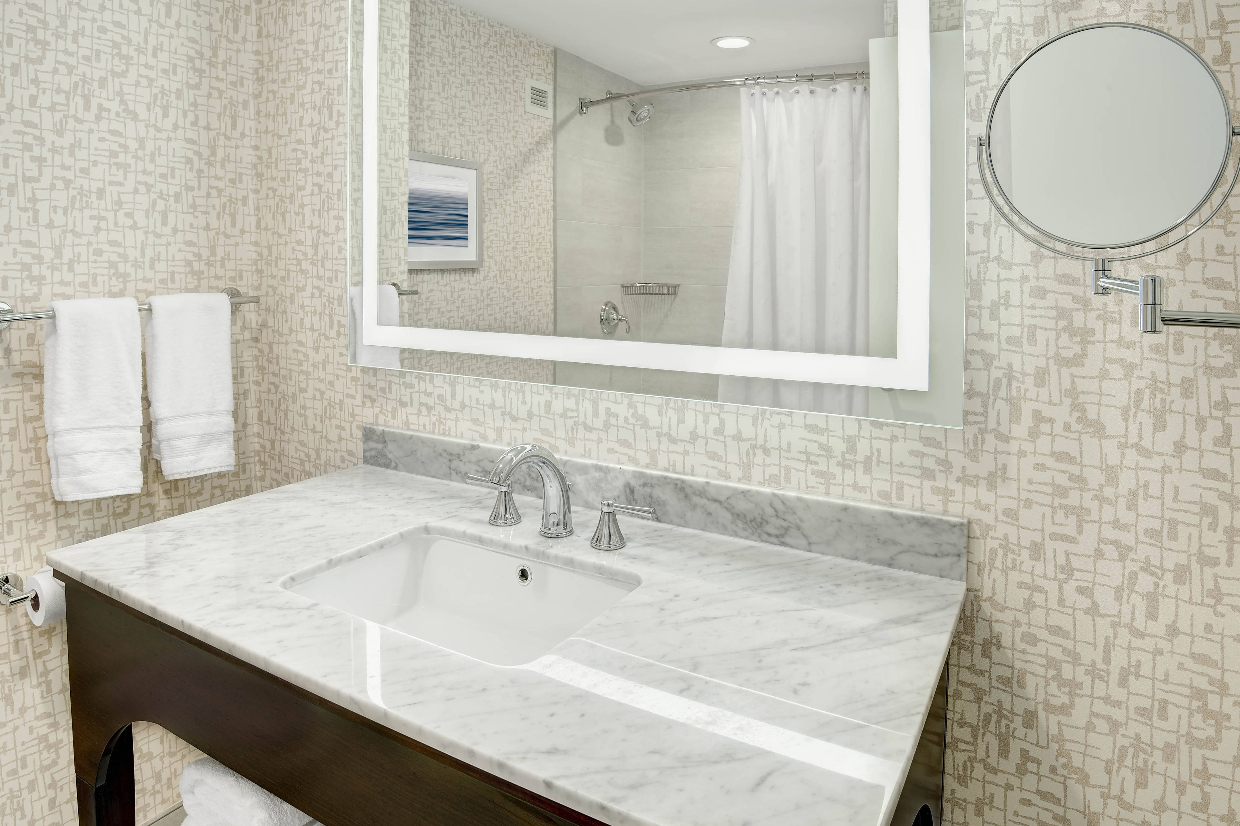 Bathroom Vanity with Tub Shower