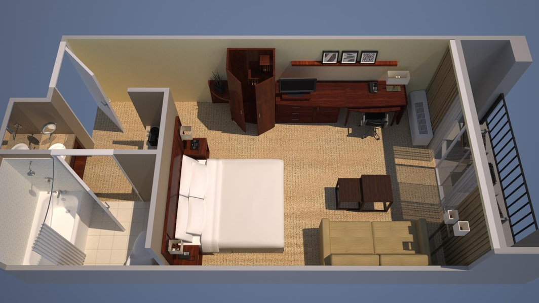 Guest Room - King Bed, Courtyard View, Balcony