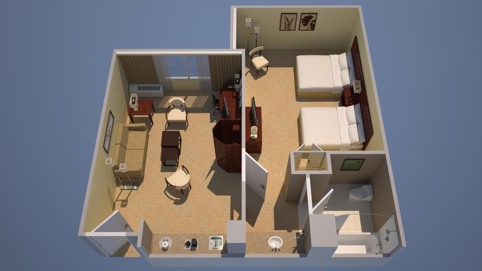 Suite - Two Double Beds, Sofa Bed