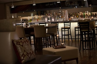 Newark airport hotel lobby bar