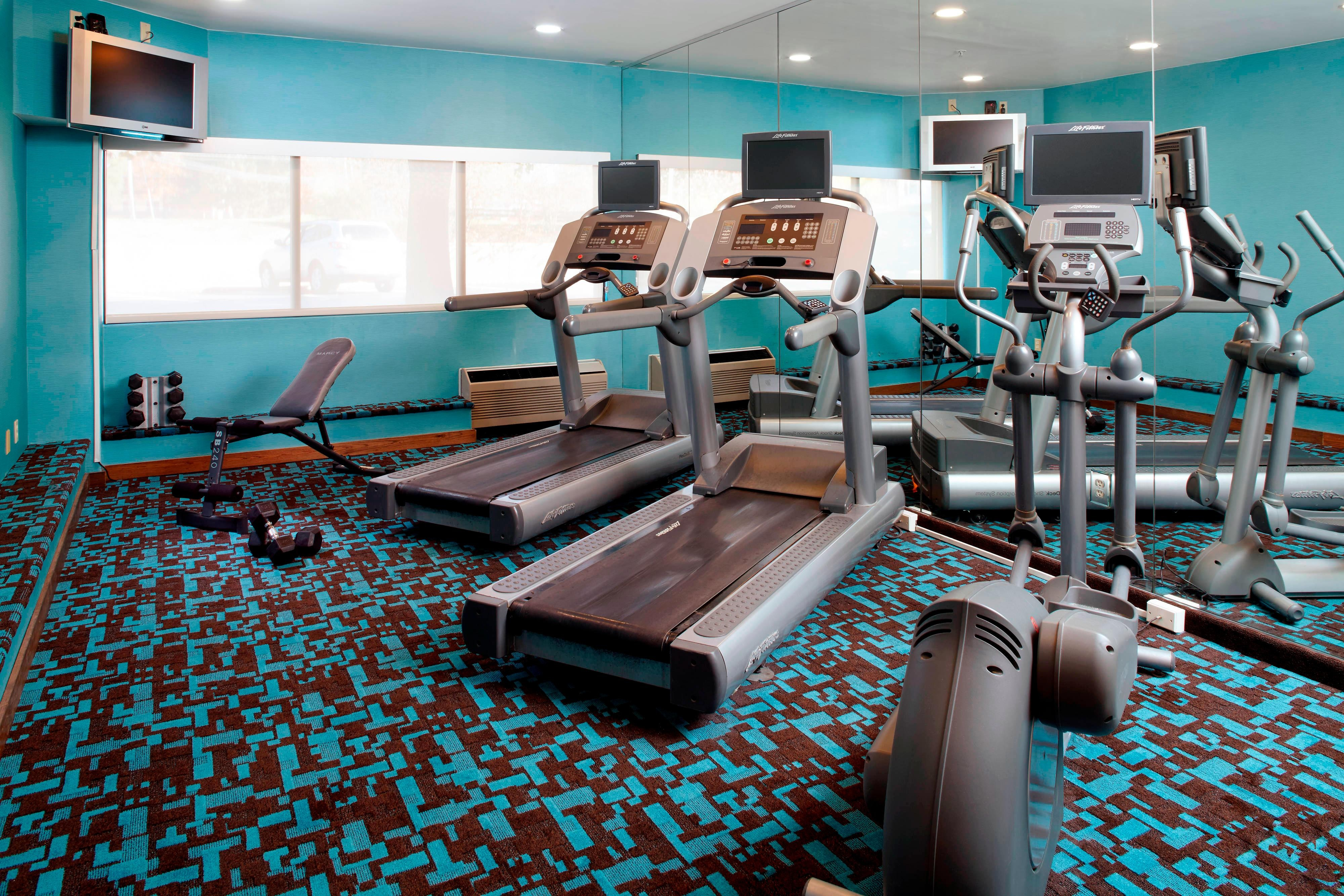 Fitness center at Parsippany hotel