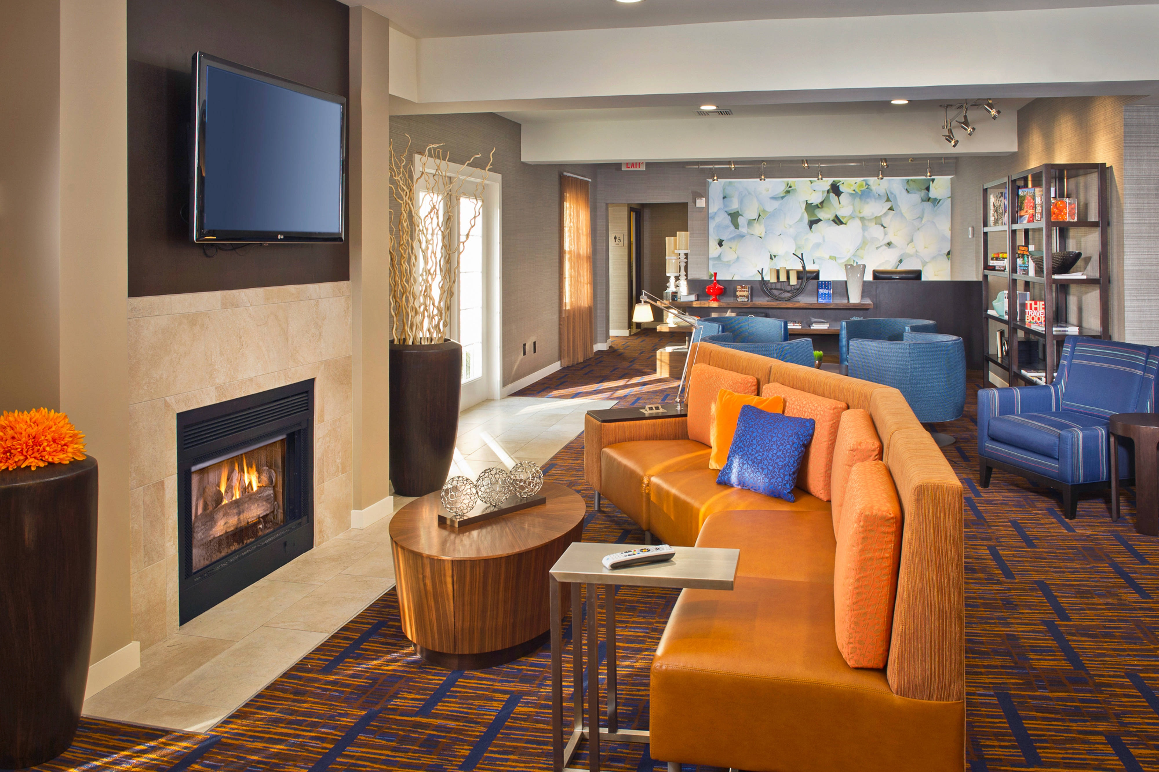 Fireplace Lobby Seating