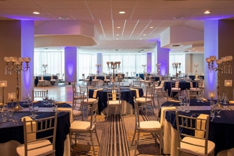 Illusions Room Formal Dinner Reception Setup