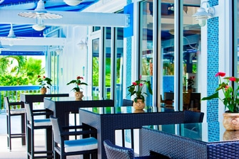 Outdoor Deck of the Coral Crab Cafe