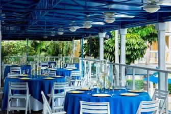 Outdoor Deck Wedding Reception