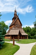 Stave Church at Heritage Hjemkomst Interpretive Center