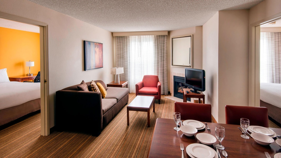 Two-Bedroom Suite at extended stay Fresno hotel