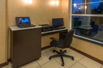 Business center work area with Free Wi-Fi