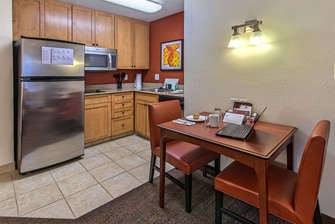 One-Bedroom Suite Kitchen & Dining Area