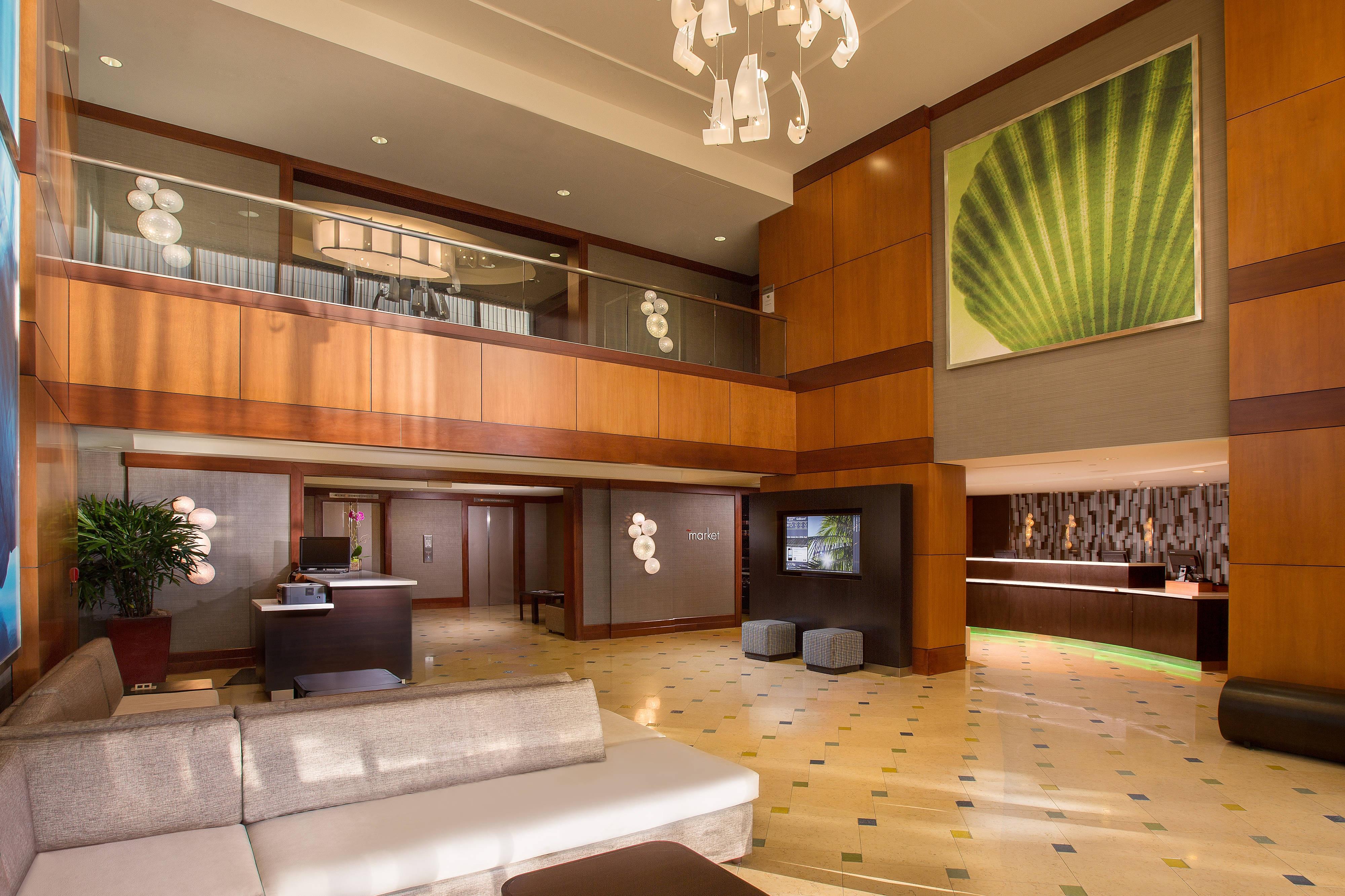 Lobby del Courtyard Fort Lauderdale Beach