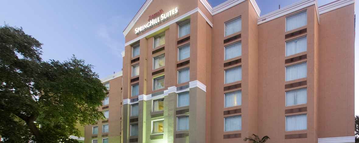 SpringHill Suites Fort Lauderdale Hotels with airport shuttle in