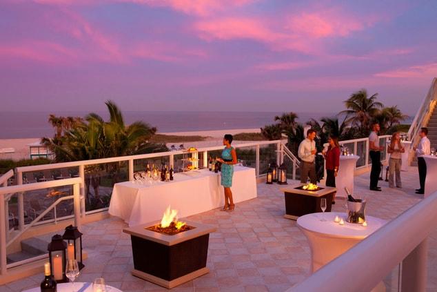 Outdoor Ocean Terrace – Reception Setup