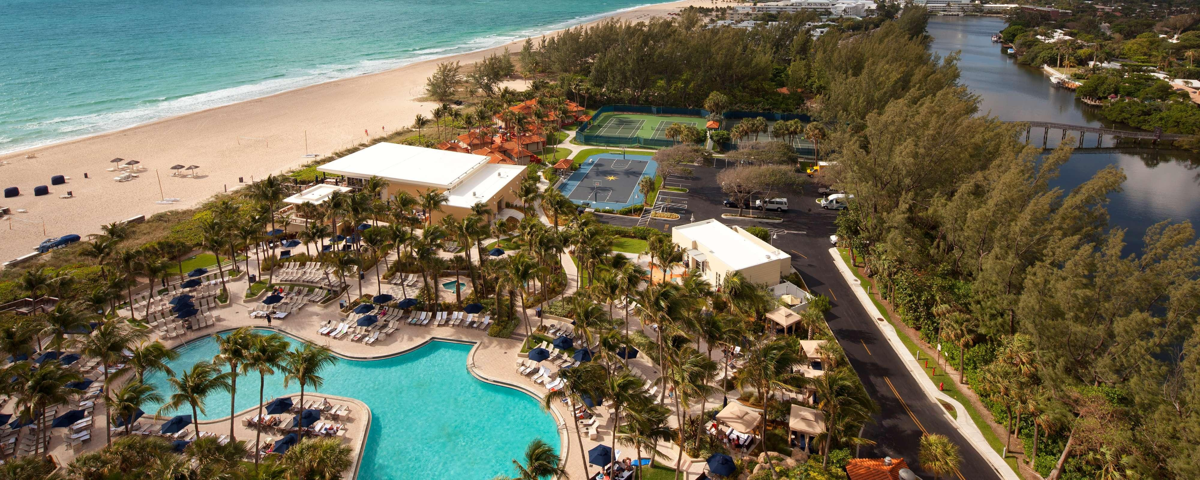 Outdoor Pool & Beach Aerial