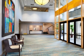 Convention Reception Desk & Entrance