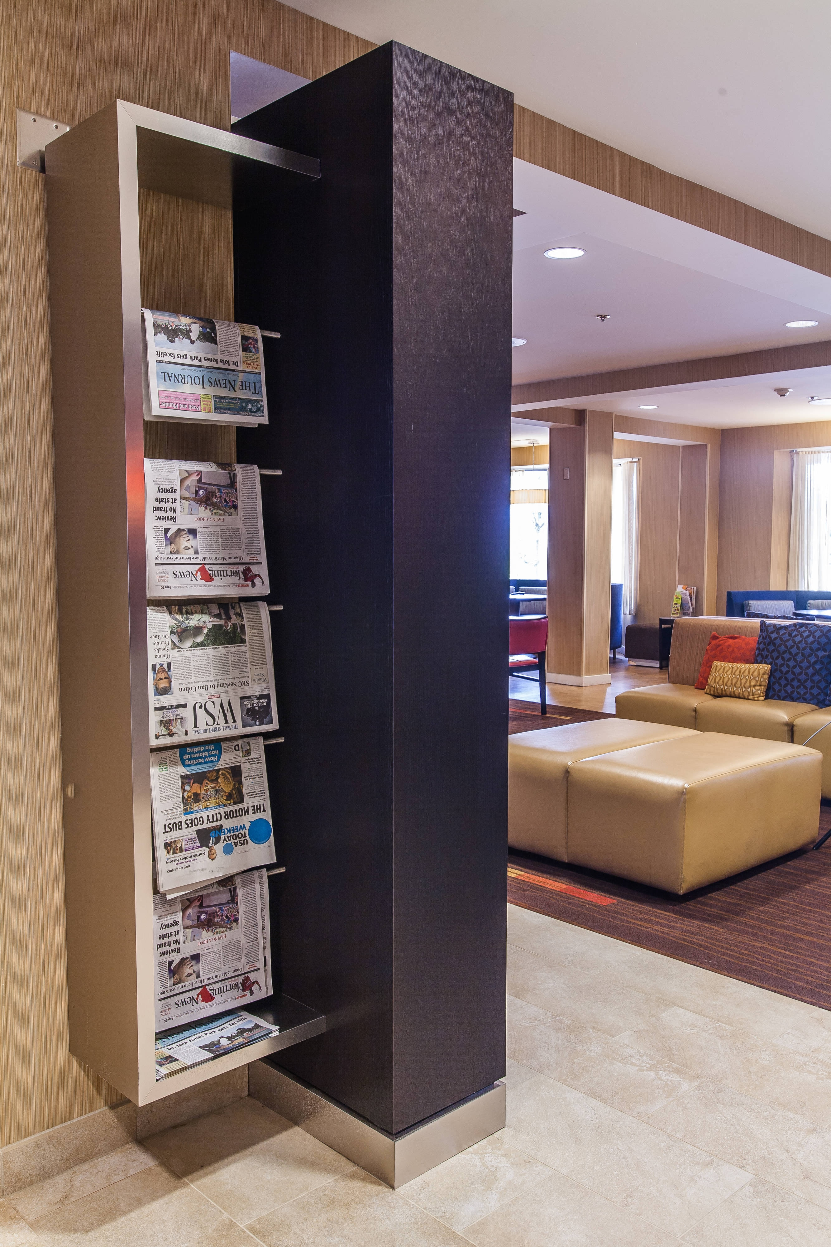 Courtyard Marriott Florence Complimentary Newspapers