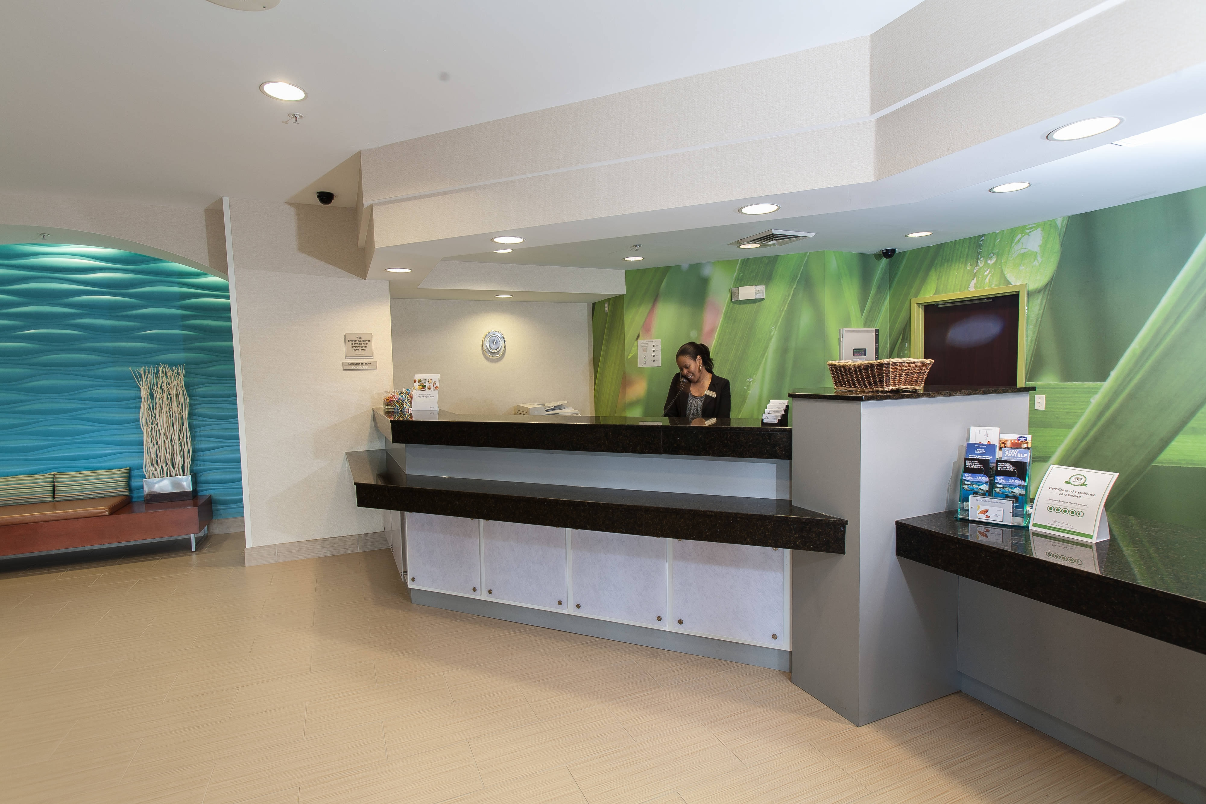 SpringHill Suites Marriott Florence Lobby Welcome