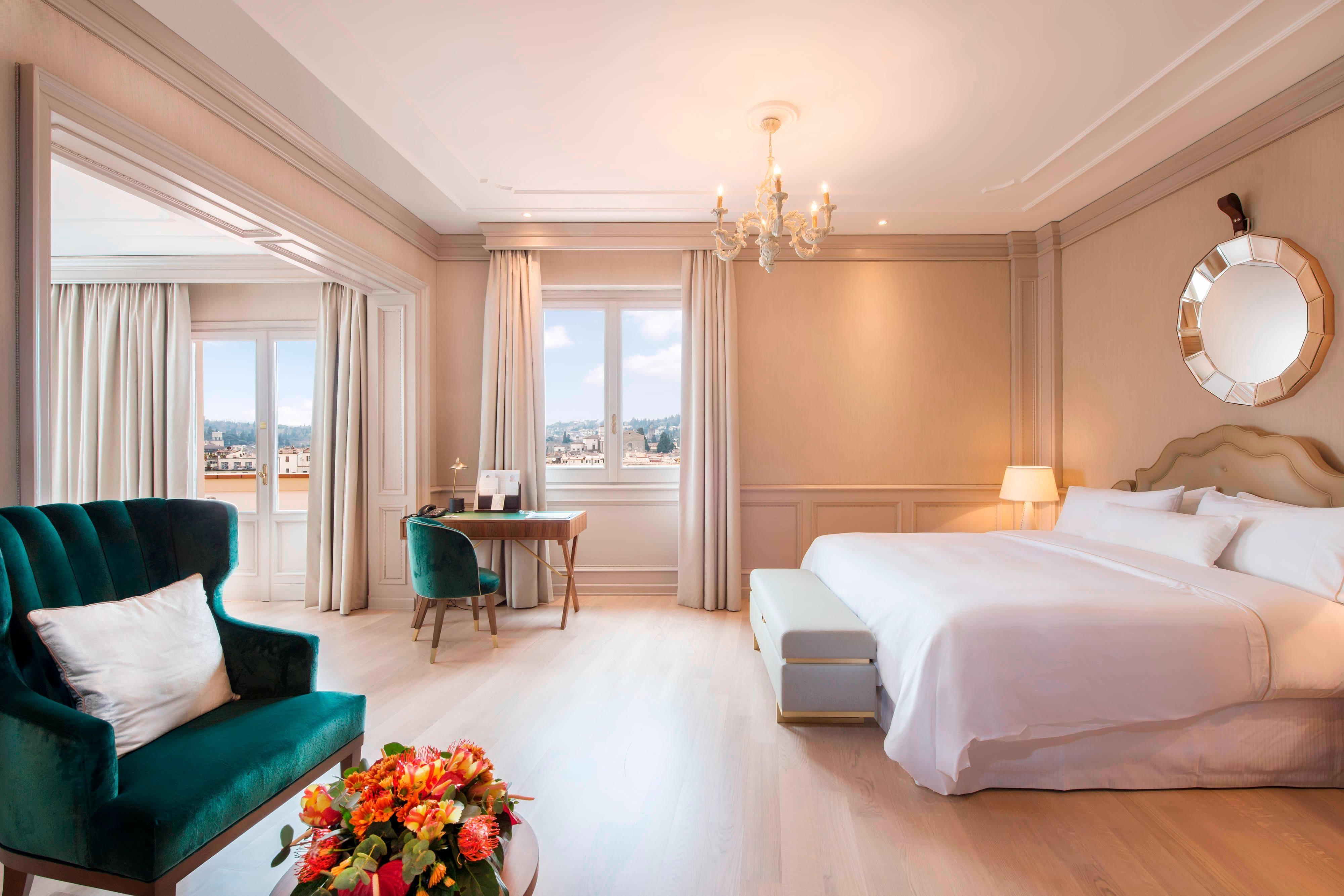 Chambre à coucher de la suite Belvedere