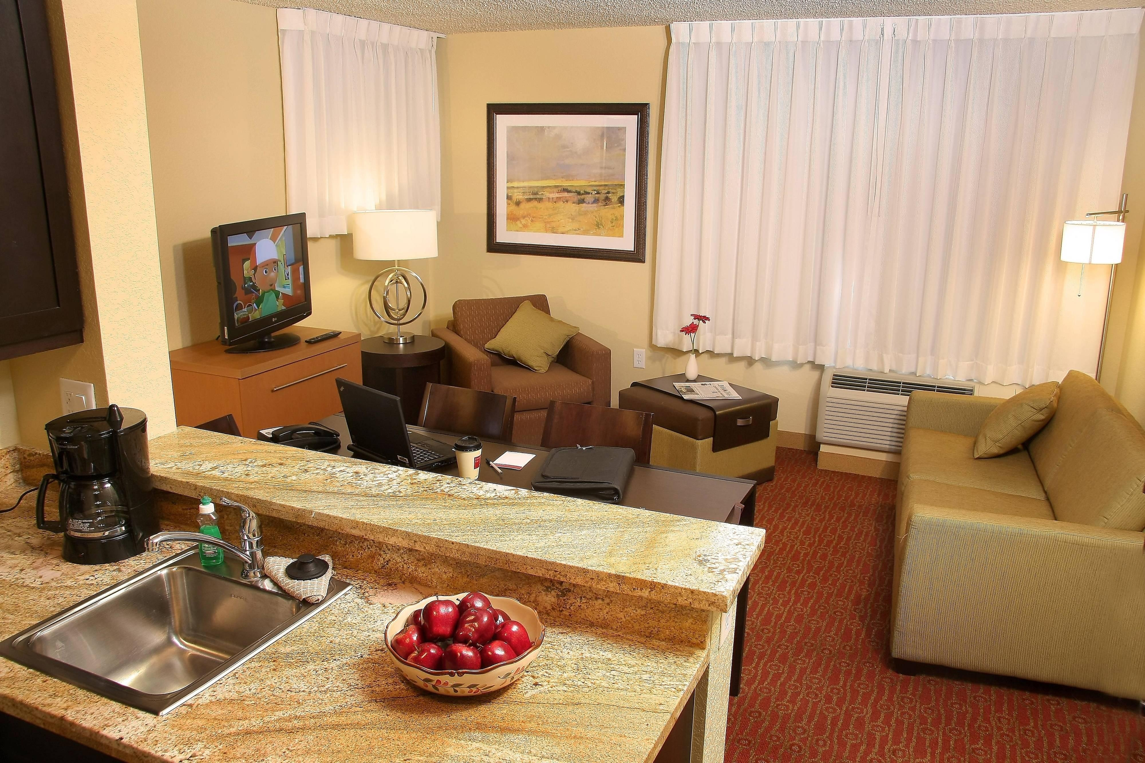 Farmington TownePlace Suites Hotel Two-Bedroom Living Area