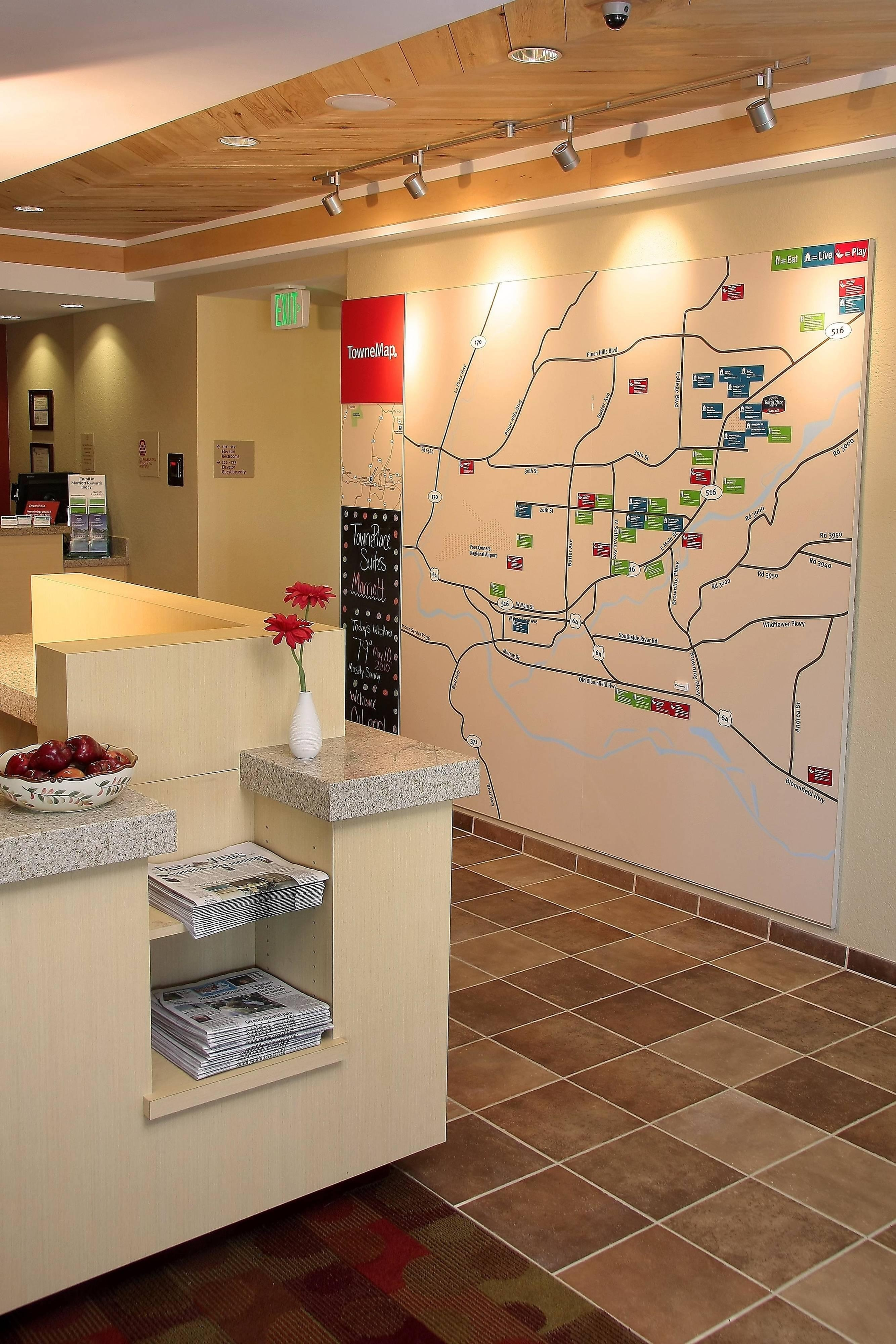 Farmington TownePlace Suites Hotel TowneMap