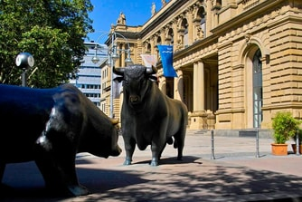 Stock exchange in Frankfurt Germany