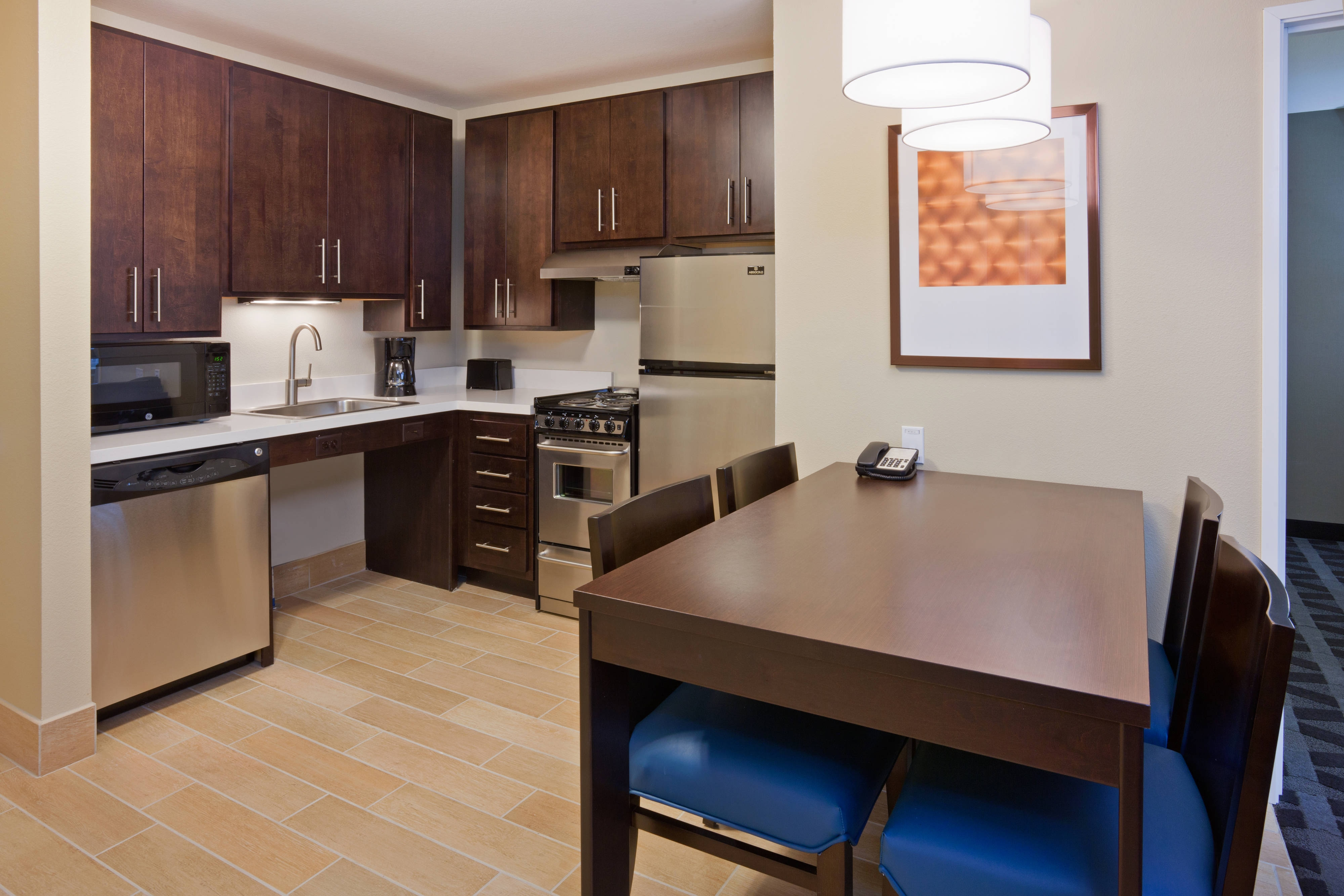 Two bedroom suite kitchen and table area