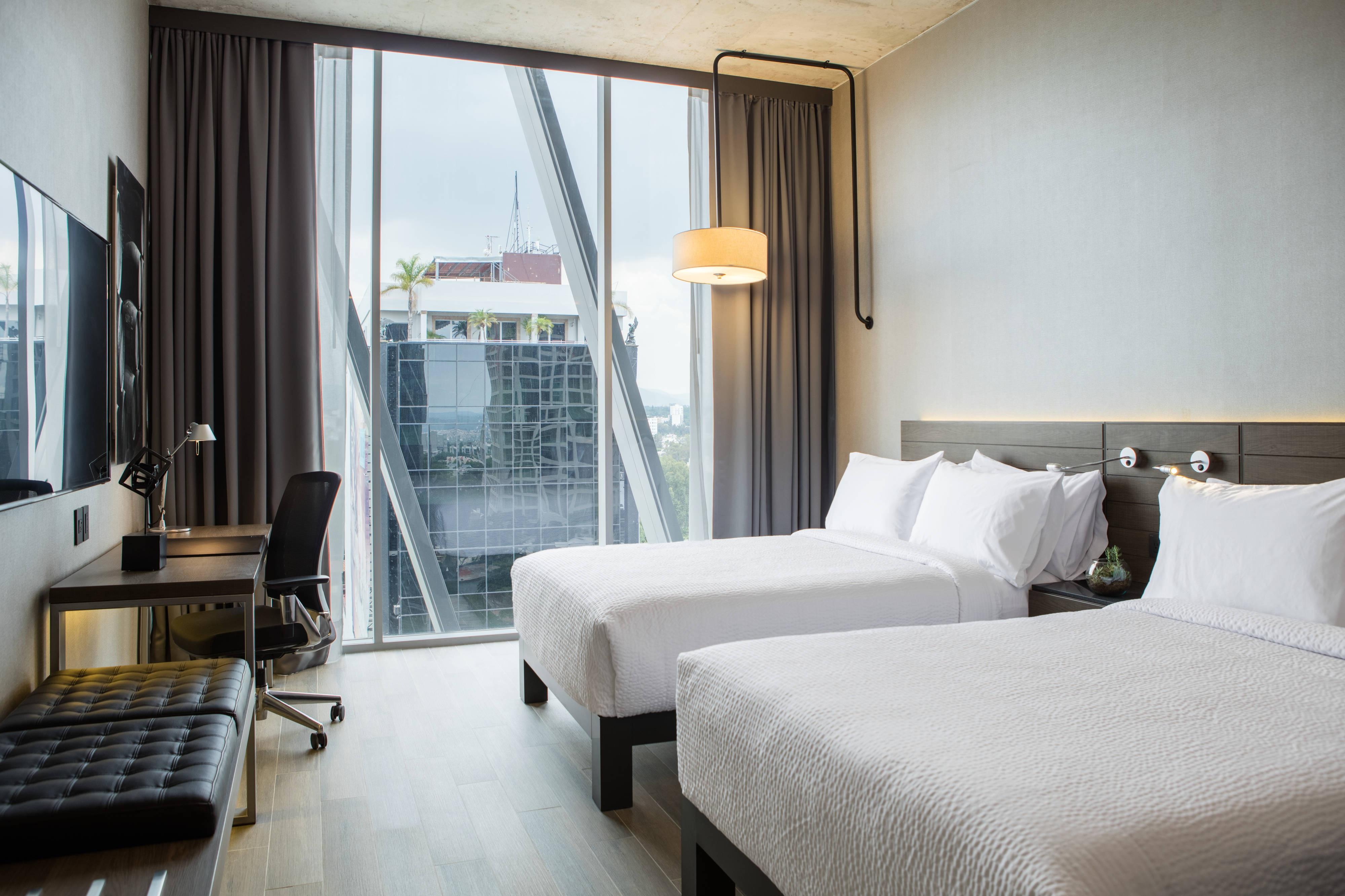 Gästezimmer mit zwei Doppelbetten